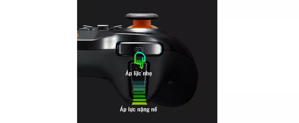 Tay cầm chơi game không dây PXN 9613W dành cho PC/Android/PS3/Smart Tivi cói tính năng cảm ứng lực trigger