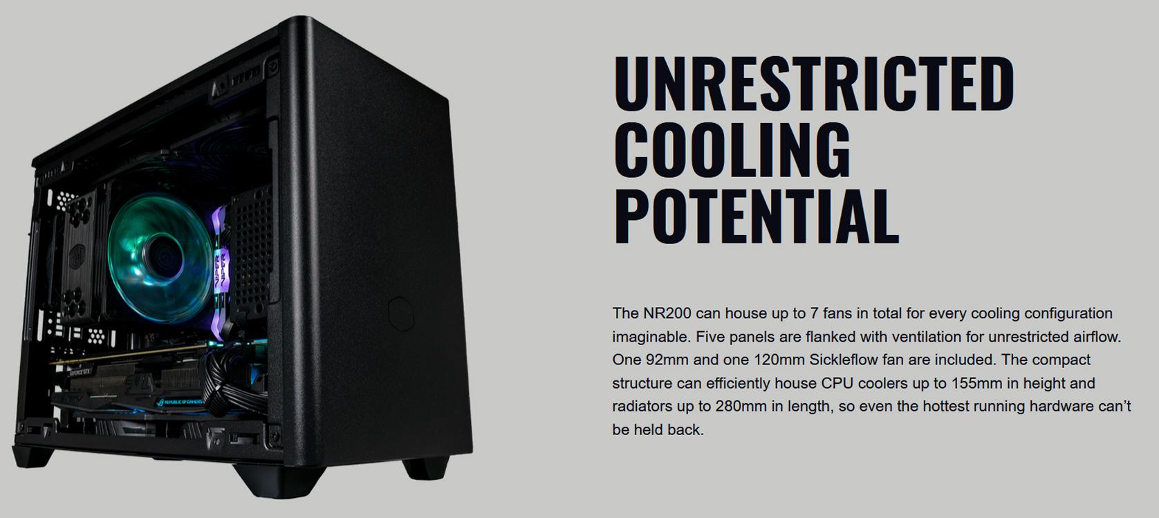 Cooler Master MasterBox NR200 White (Mini ITX Tower/Màu trắng) giới thiệu 2