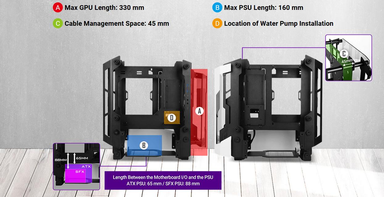Antec Striker (Mini ITX Watercool Case/Màu trắng - đen) giới thiệu 6