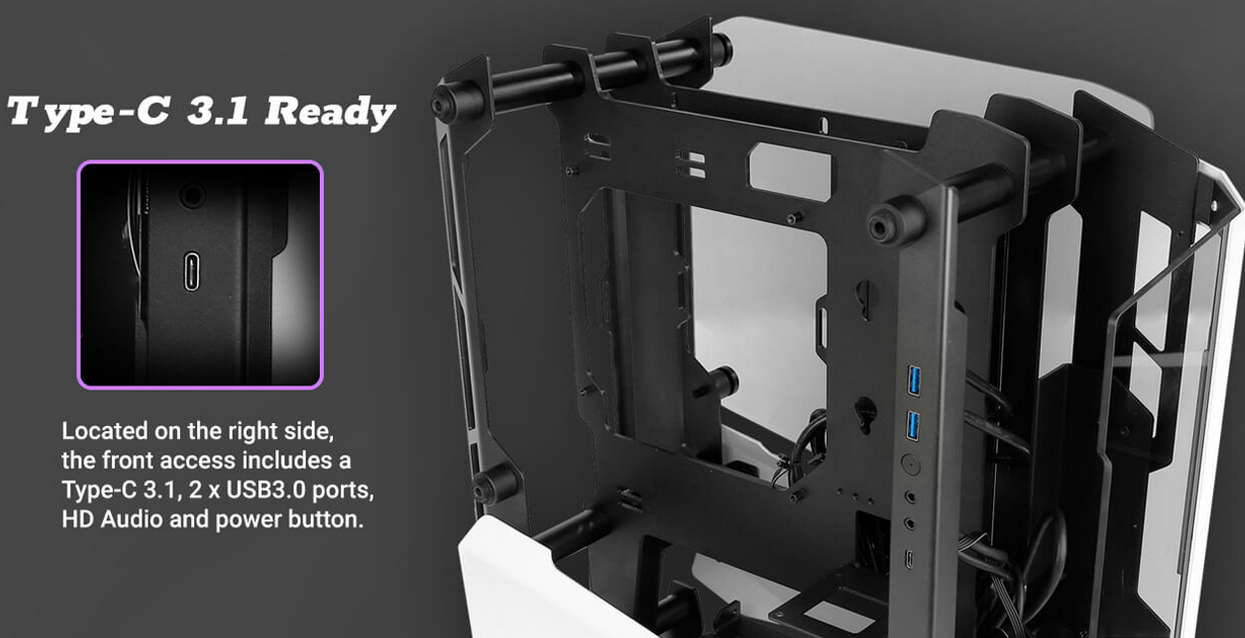 Antec Striker (Mini ITX Watercool Case/Màu trắng - đen) giới thiệu 4