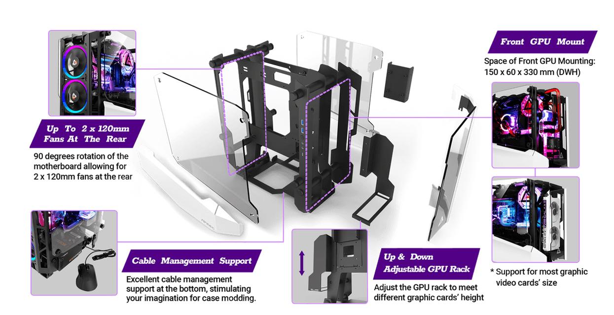 Antec Striker (Mini ITX Watercool Case/Màu trắng - đen) giới thiệu 3