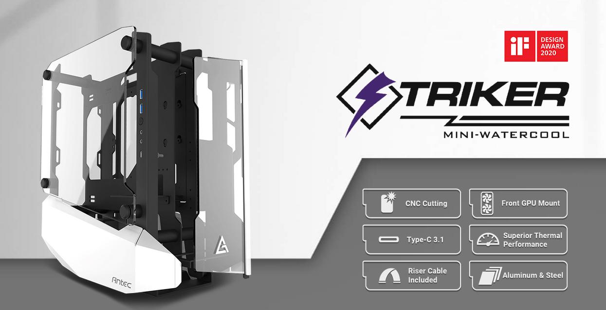 Antec Striker (Mini ITX Watercool Case/Màu trắng - đen) giới thiệu