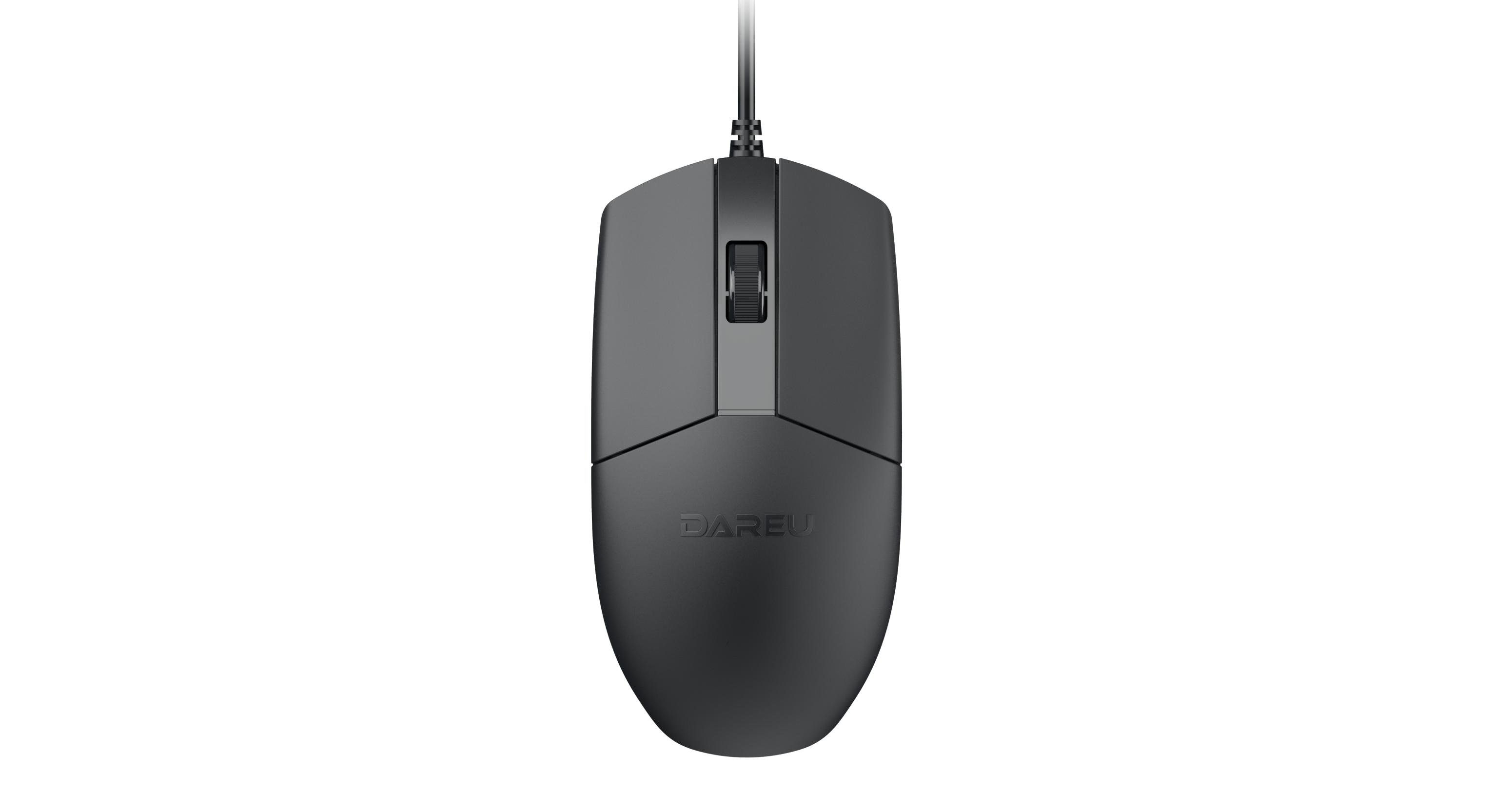 Chuột chơi game Dareu LM103 Black (USB/Đen)  có thiết kế đơn giản