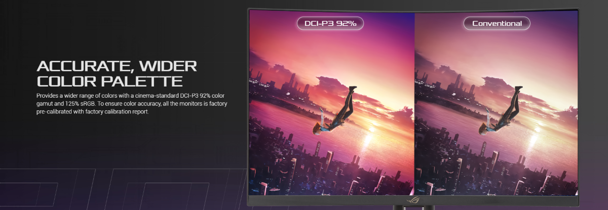 Màn hình Asus ROG XG27WQ màu sắc