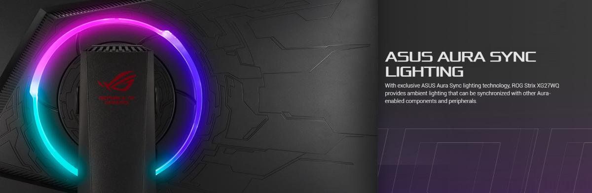 Màn hình Asus ROG XG27WQ  sync lighting