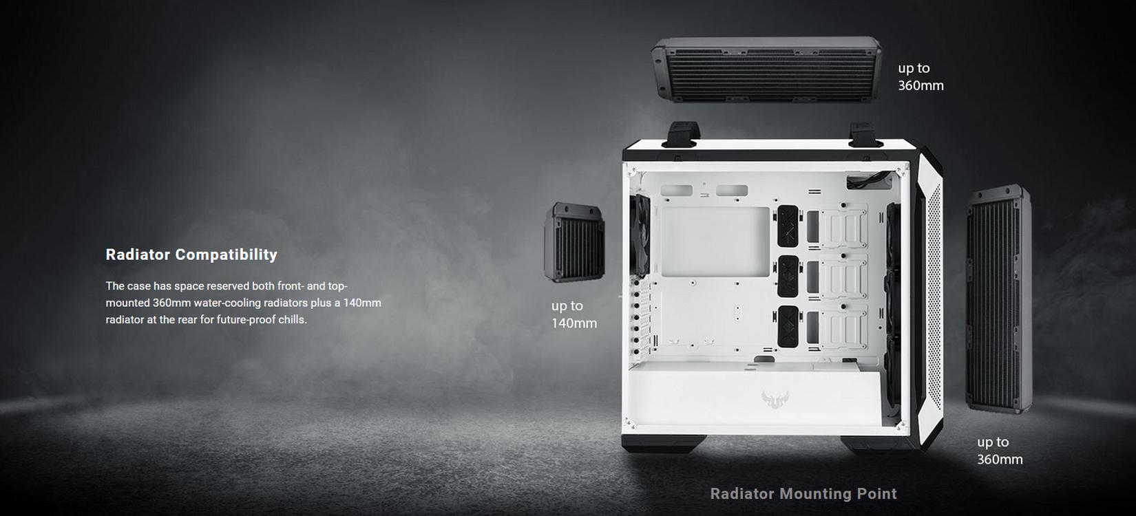 Case Asus TUF Gaming GT501 White Edition (Mid Tower/Màu Trắng) giới thiệu 6