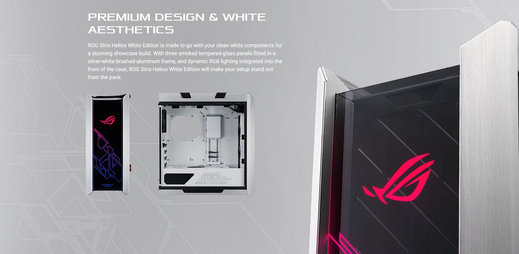 ASUS ROG Strix Helios GX601 White Edition (Mid Tower/Màu Trắng) giới thiệu 4