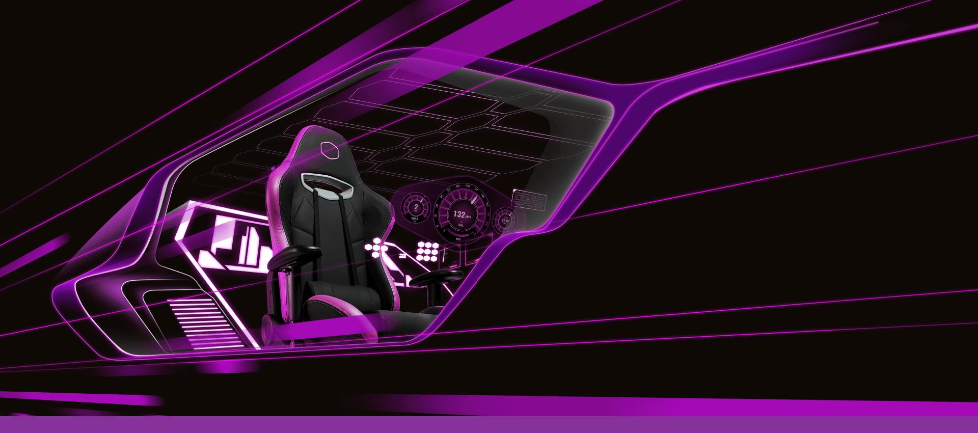Giới thiệu Ghế Gamer CoolerMaster Caliber R2 CM Purple (CMI-GCR2-2019)