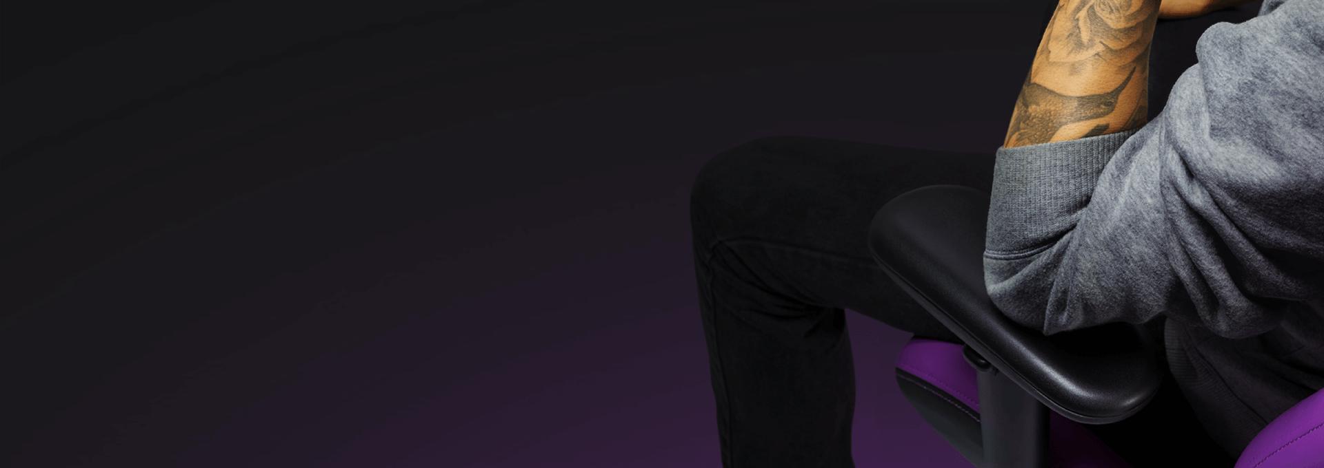 Ghế Gamer CoolerMaster Caliber R2 CM Purple (CMI-GCR2-2019) trang bị kê tay đa  hướng
