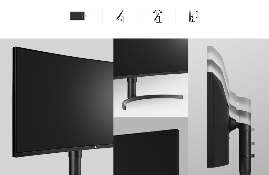 Màn hình LG 35WN75C-B thiết kế thuận tiên