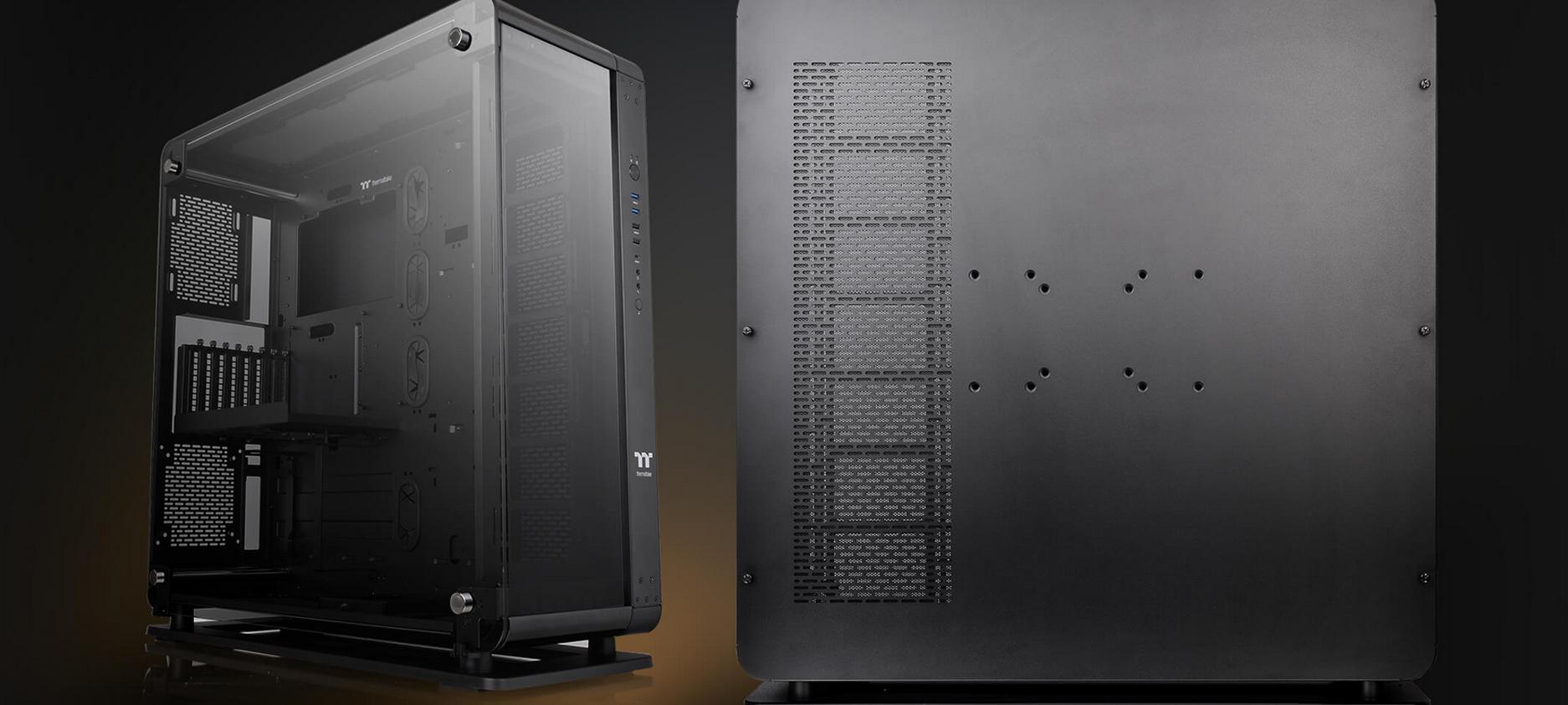 Case Thermaltake Core P8 Tempered Glass Full Tower Chassis (Full Tower / Màu Đen) có khả năng đứng hoặc treo tường tùy ý thích chủ nhân.