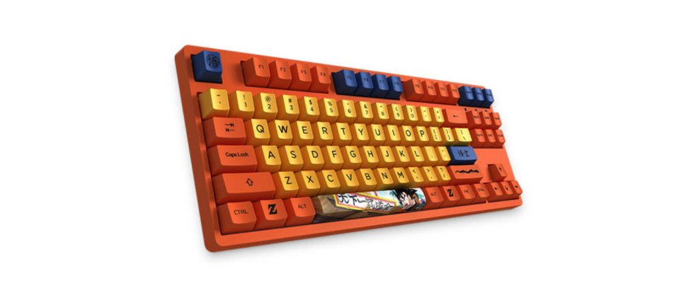 Bàn phím AKKO 3087 Dragon Ball Z Goku (Akko Switch Orange) có thiết kế độc đáo