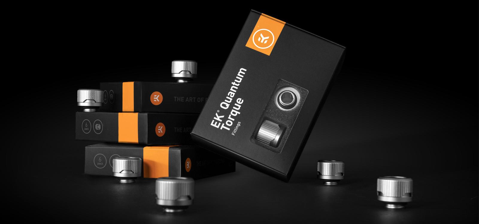 EK-Quantum Torque 6-Pack HDC 14 - Satin Titanium