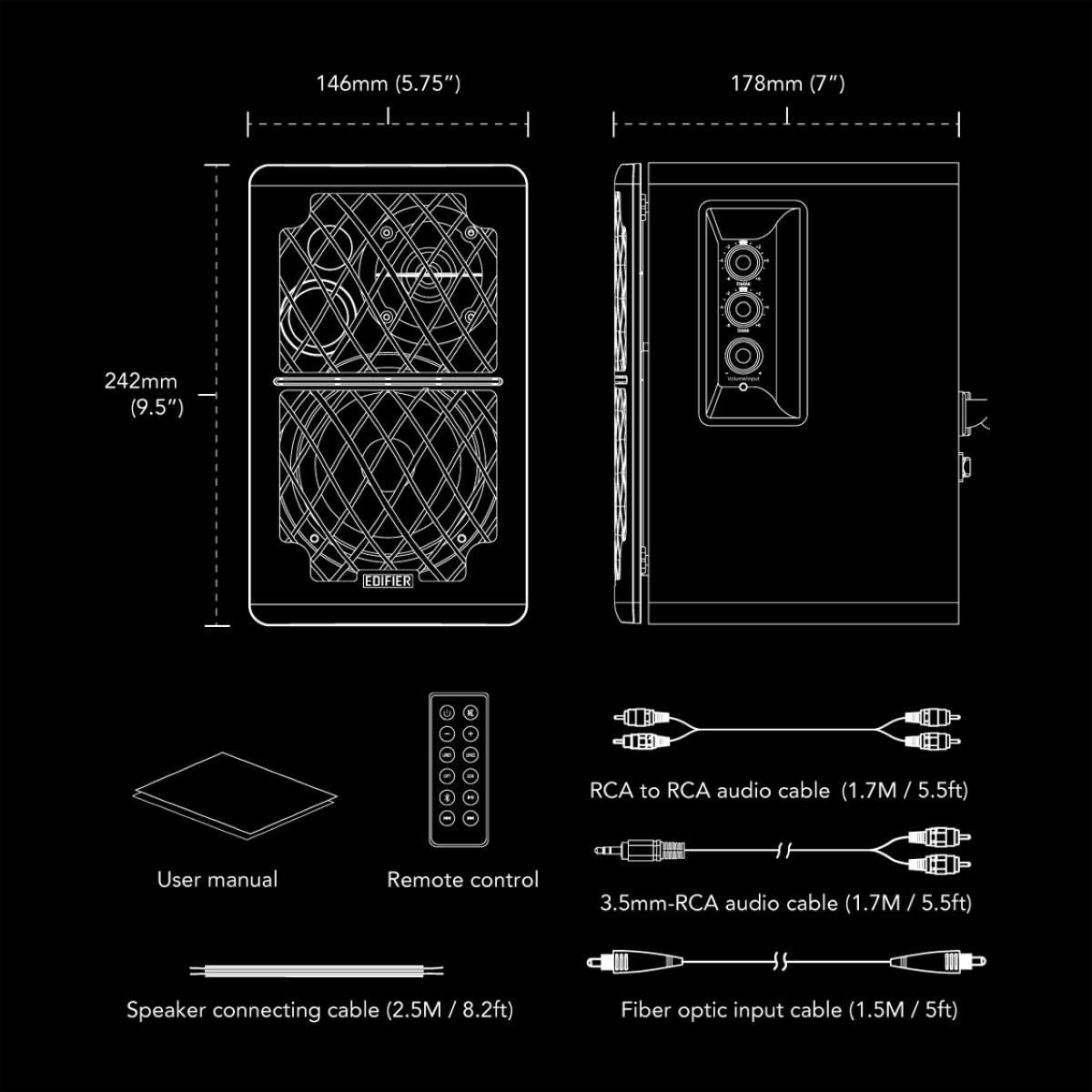 Speaker Edifier R1280DB Bluetooth 2.0 Brown 2