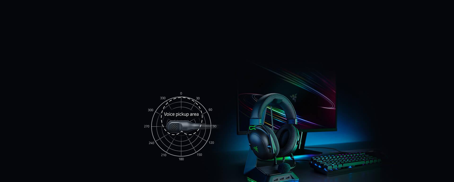 Tai nghe Razer BlackShark V2 - Wired Gaming Headset + USB Sound Card - RZ04-03230100-R3M1 trang bị micro có thể tháo rời với tính năng lọc âm cực tốt
