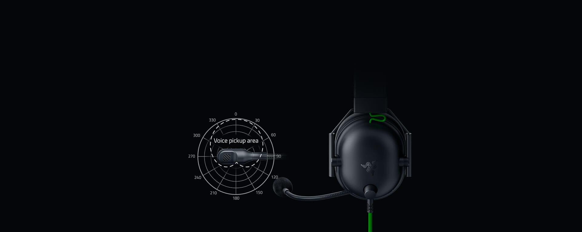 Tai nghe Razer BlackShark V2 X - Wired Gaming Headset - RZ04-03240100-R3M1 trang bị micro với khả năng loại bỏ tạp âm và tái tạo giọng nói tốt