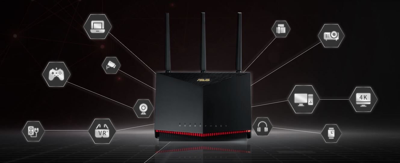 Router Gaming ASUS RT-AX86  1