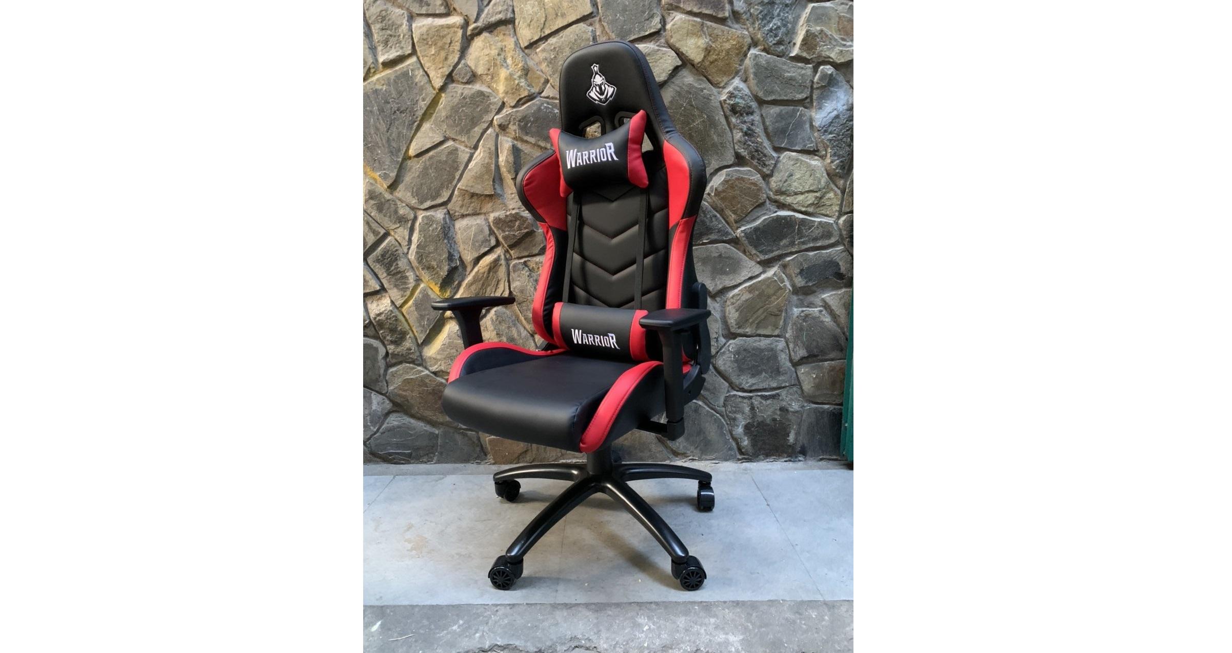 Ghế Gamer Warrior Raider Series Black/White (WGC206) có chân ghế với thiết kế làm giảm thiểu tiếng ồn