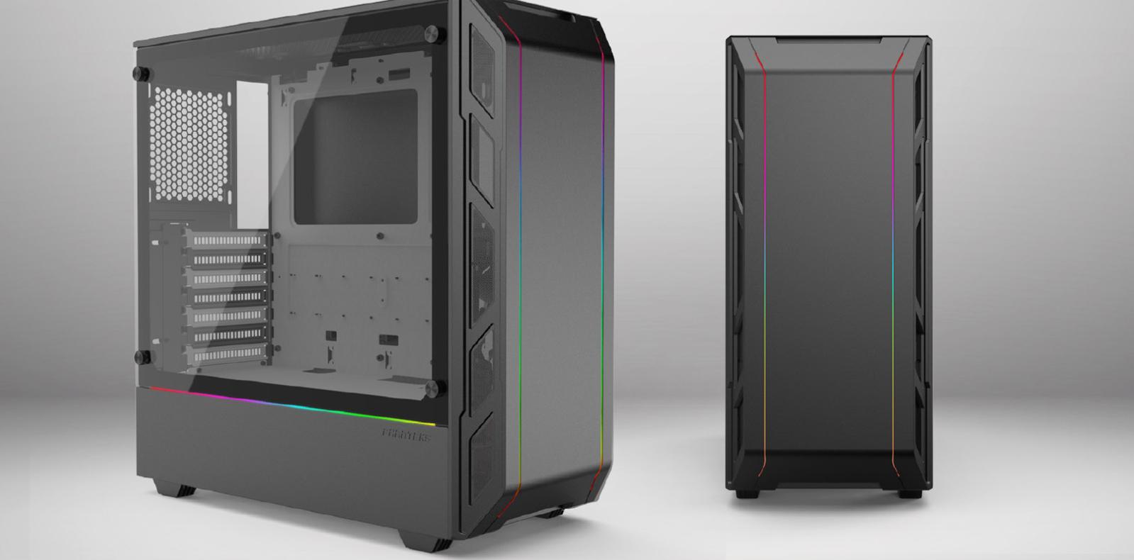 Case Phanteks Eclipse P350X Tempered Glass, DRGB, Black (Mid Tower/Màu Đen) Tổng thể