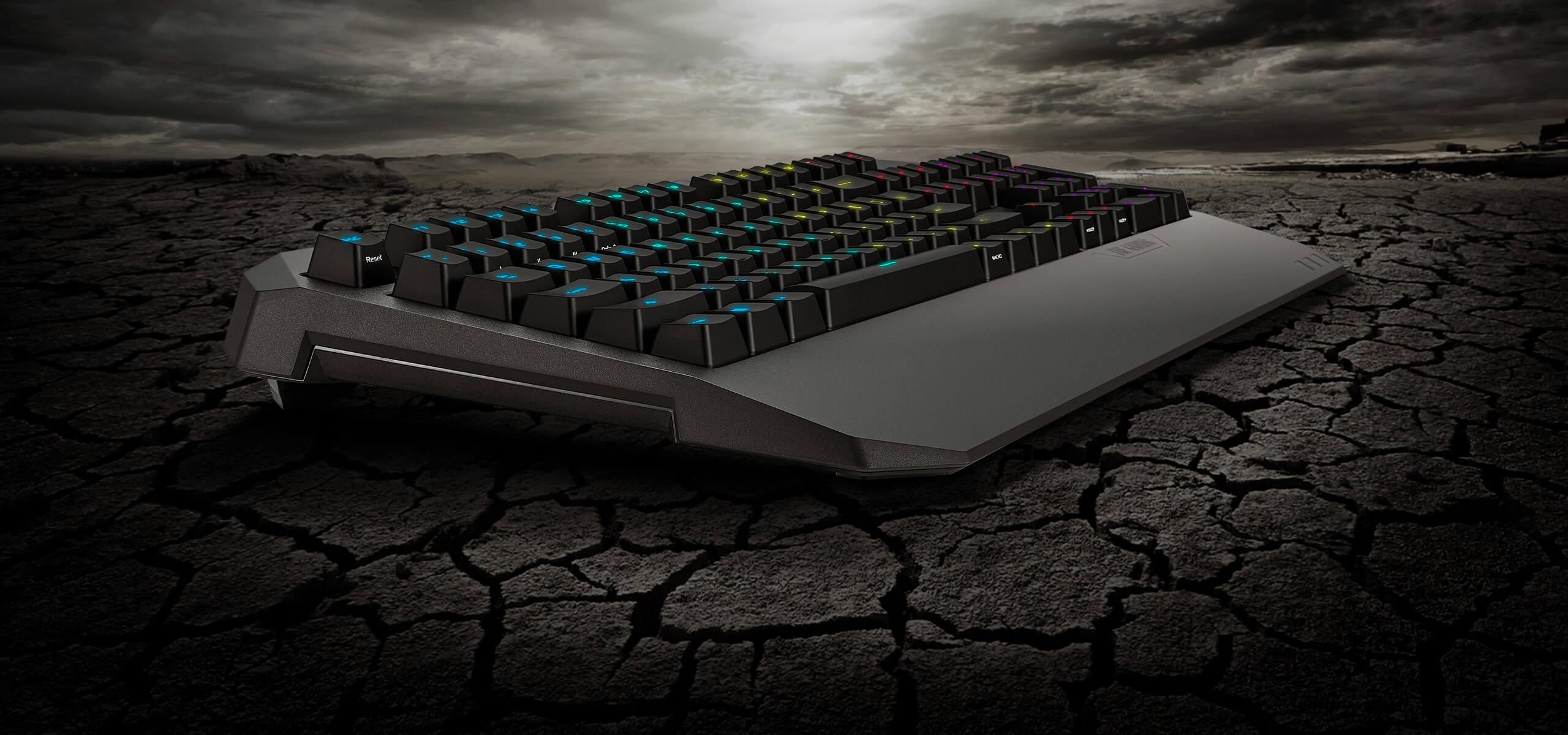 Bàn phím chơi game Asus TUF K5 (USB/RGB/Đen) có phần kê tay tiện lợi