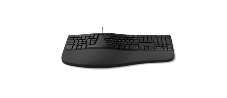 Bàn phím Microsoft Ergonomic (màu đen) (LXM-00015) tích hợp kê tay chống mỏi