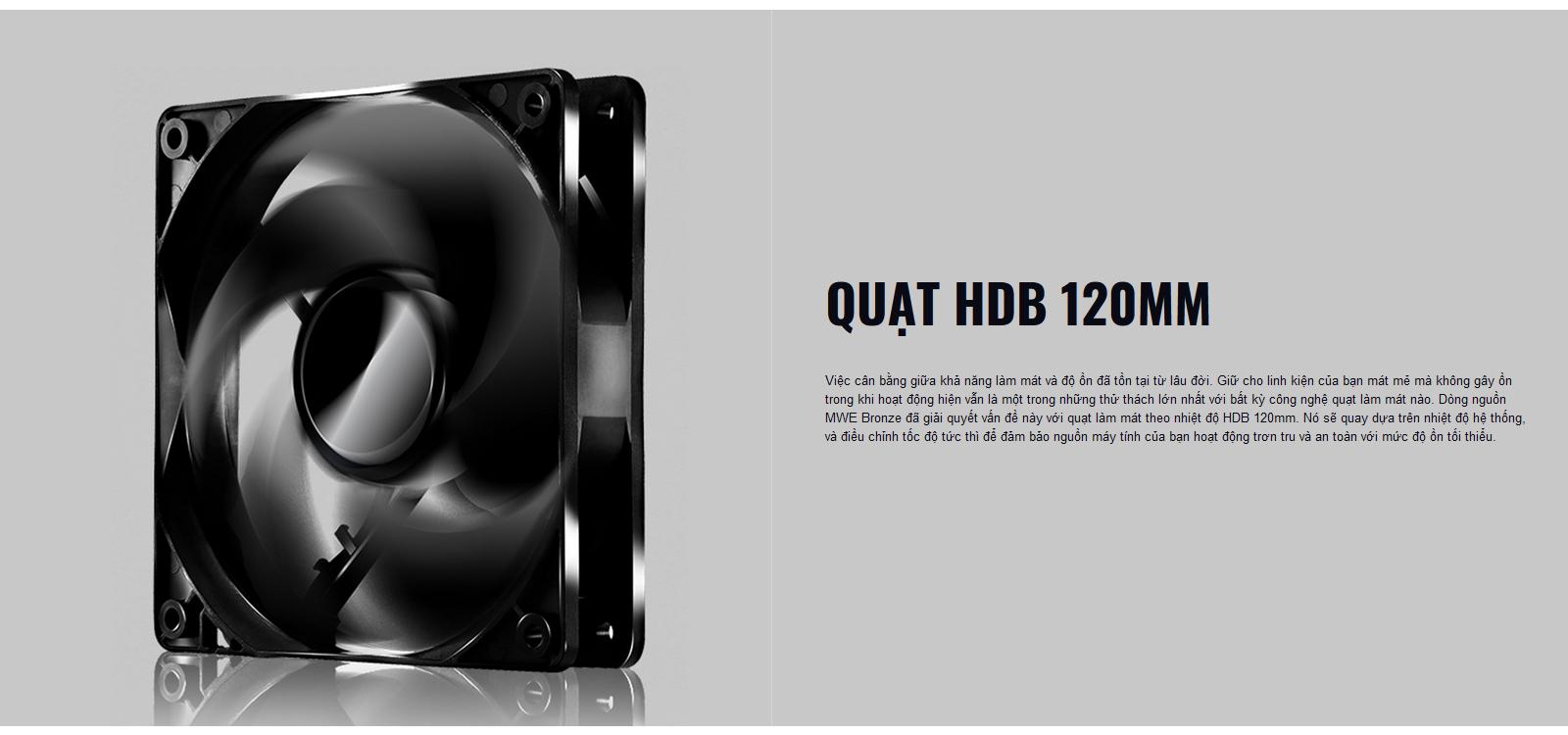 Nguồn máy tính Cooler Master MWE V2 230V 450 450W Plus Bronze (80 Plus Bronze/Màu Đen) trang bị quạt HDB 120MM