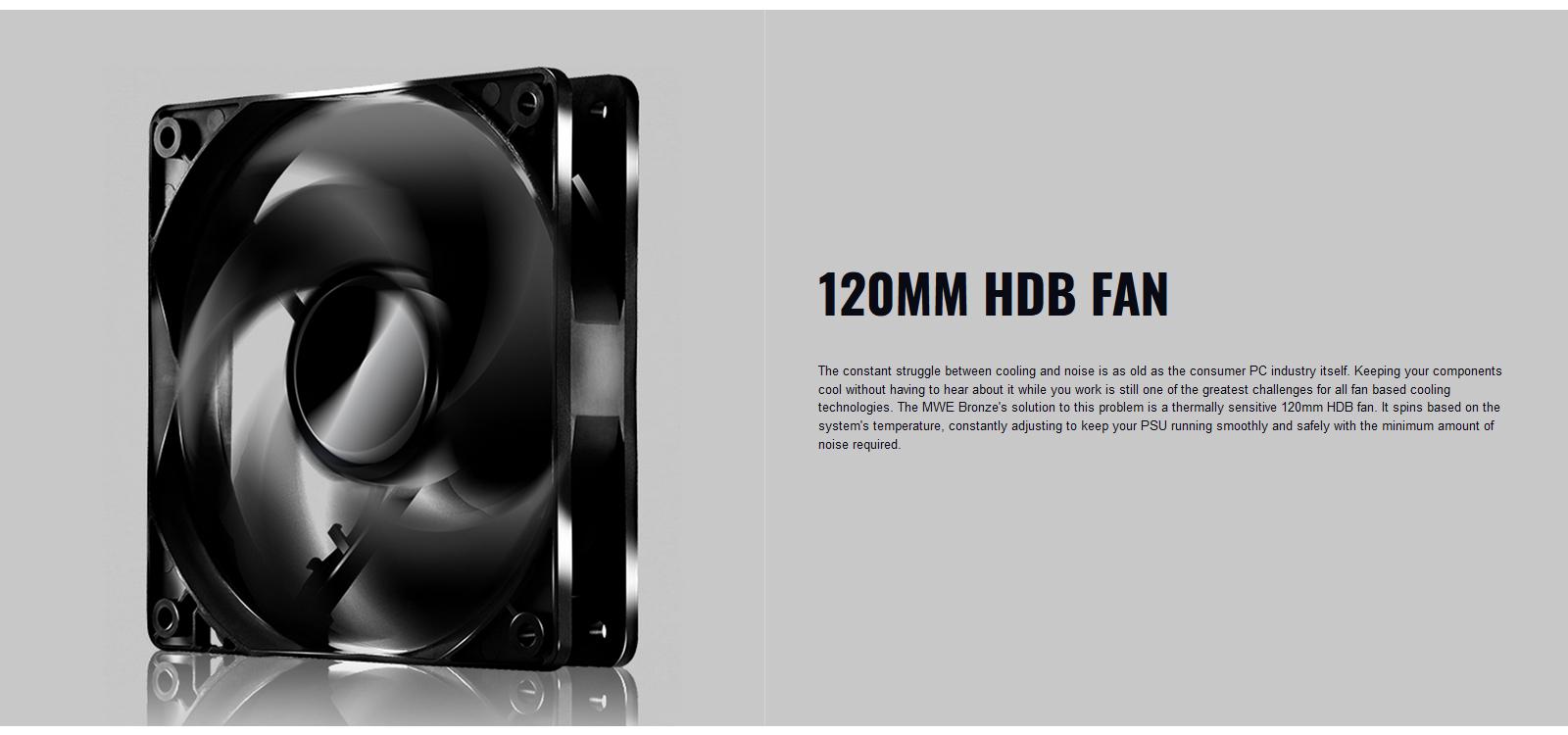 Nguồn máy tính Cooler Master MWE V2 230V 650 650W Plus Bronze (80 Plus Bronze/Màu Đen) trang bị quạt HDB 120MM