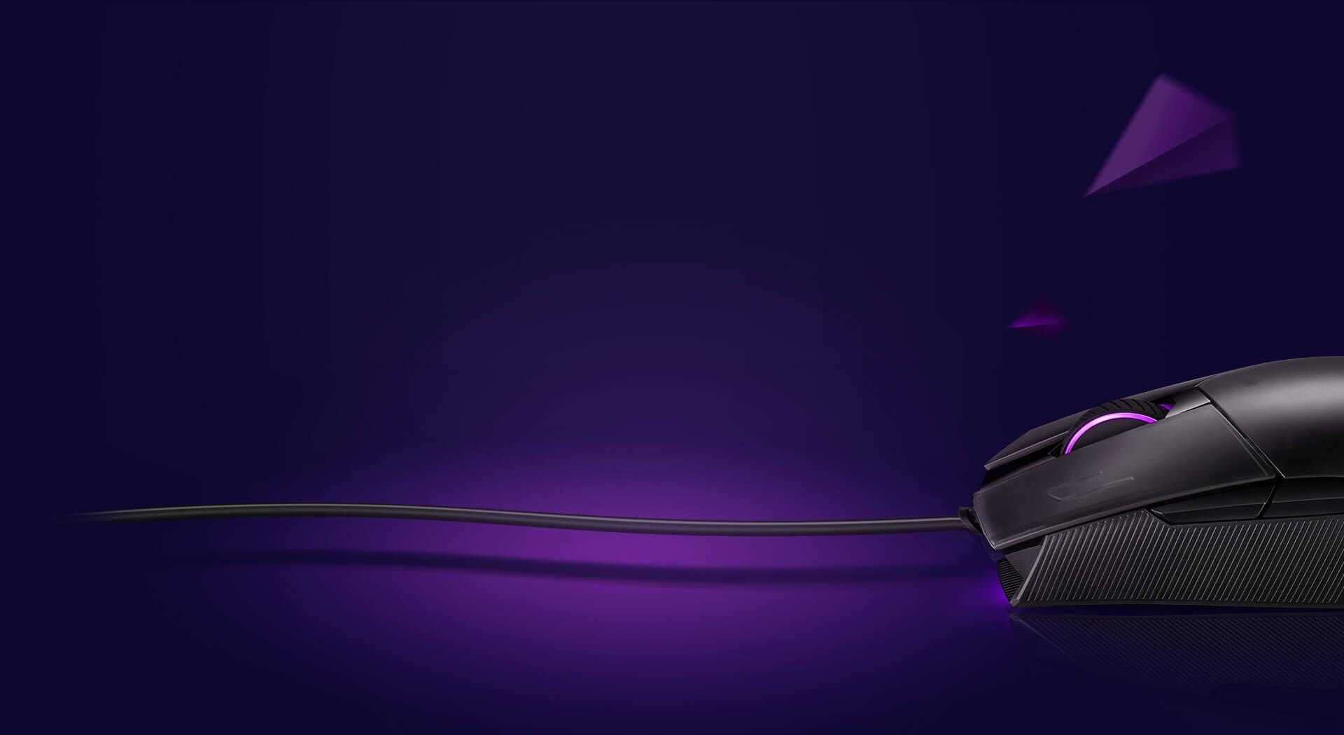 Dây của Chuột Asus ROG Strix Impact II (USB/RGB/Đen) rất mềm và thoải mái