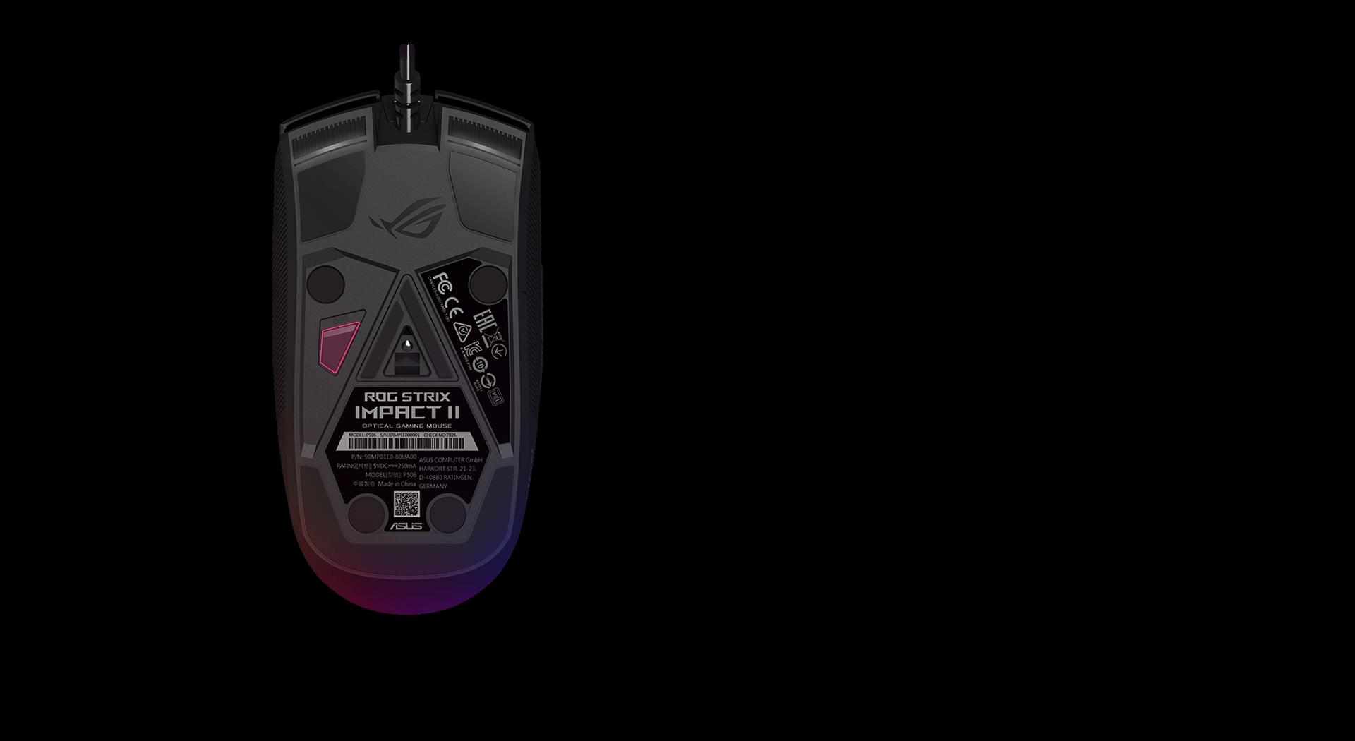 Chuột Asus ROG Strix Impact II (USB/RGB/Đen) có thể chỉnh DPI trực tiếp trên chuột
