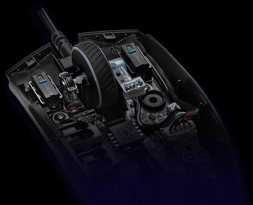 Chuột Asus ROG Strix Impact II (USB/RGB/Đen) tích hợp tính năng thay nút bấm độc quyền của Asus