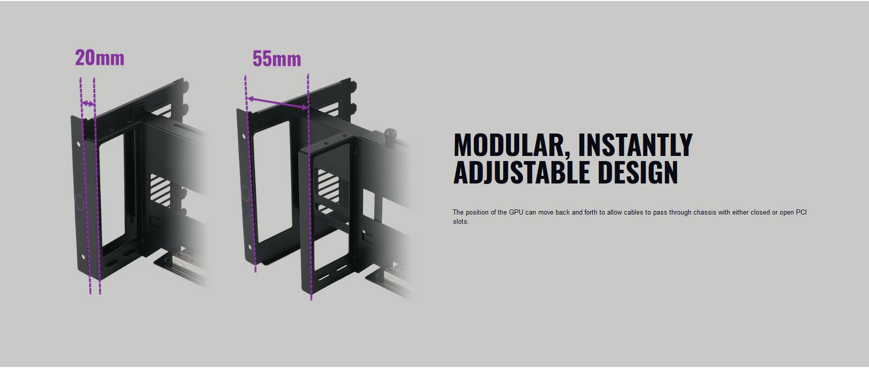 Riser Cooler Master VERTICAL GRAPHICS CARD HOLDER KIT V2 giới thiệu kích thước