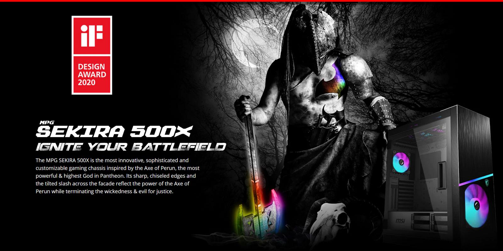 Vỏ Case MSI MPG SEKIRA 500X - Biến PC của bạn thành cỗ máy chiến đấu