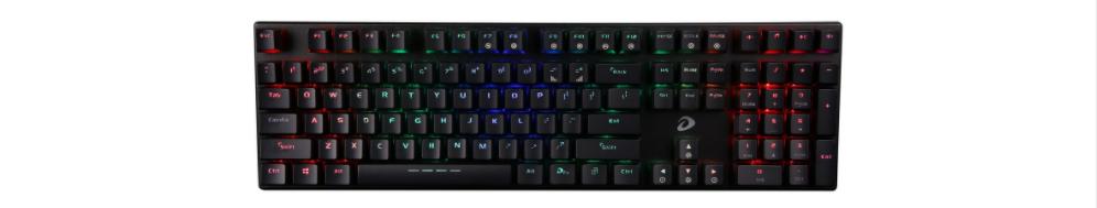 Bàn Phím cơ Dareu EK810 Multi-Led Black (USB/Multi Led/Blue switch) có thiết kế gọn gàng và bắt mắt