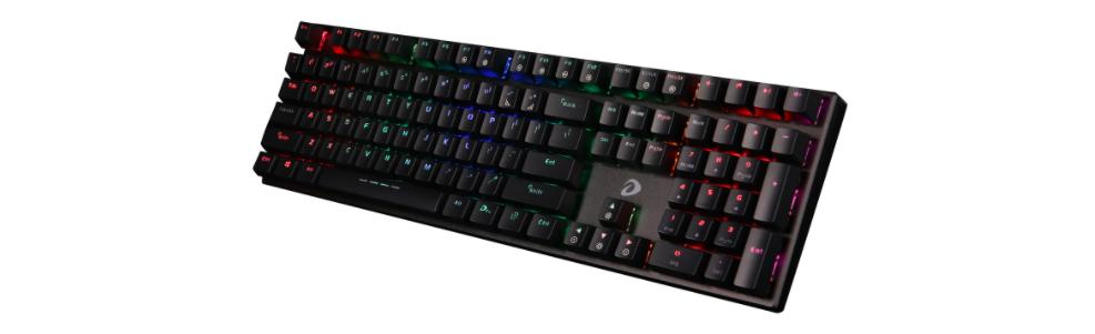 Bàn Phím cơ Dareu EK810 Multi-Led Black (USB/Multi Led/Brown switch) trang bị đèn led nhiều màu có thể tuỳ chỉnh