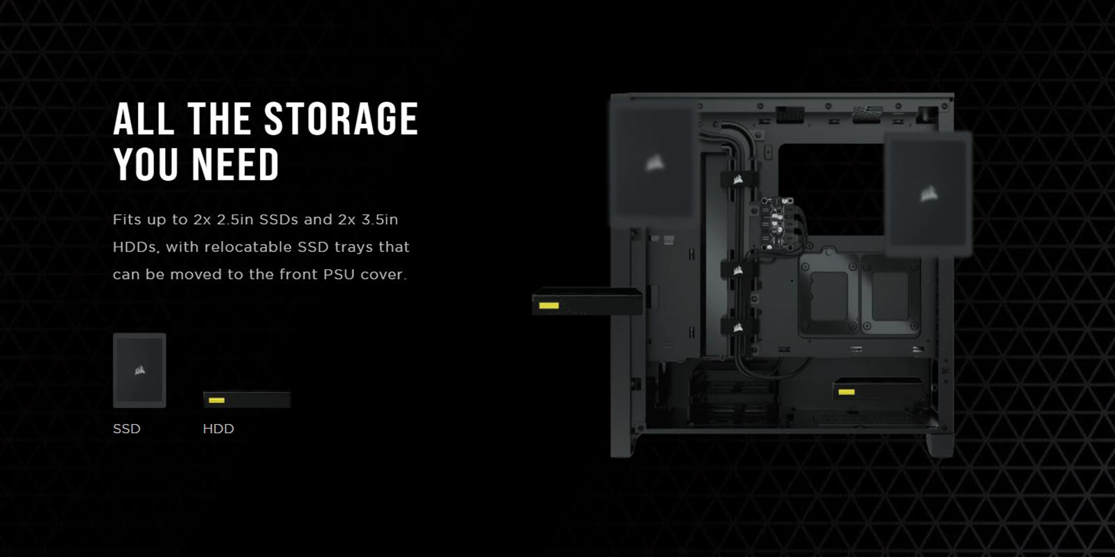Case Corsair 4000D TG Black (Mid Tower/Màu Đen) giới thiệu 9