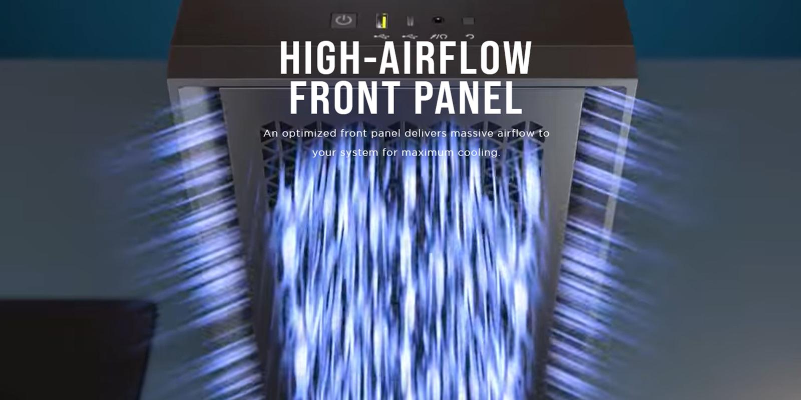 Corsair 4000D Airflow TG White (Mid Tower/Màu Trắng) giới thiệu 6
