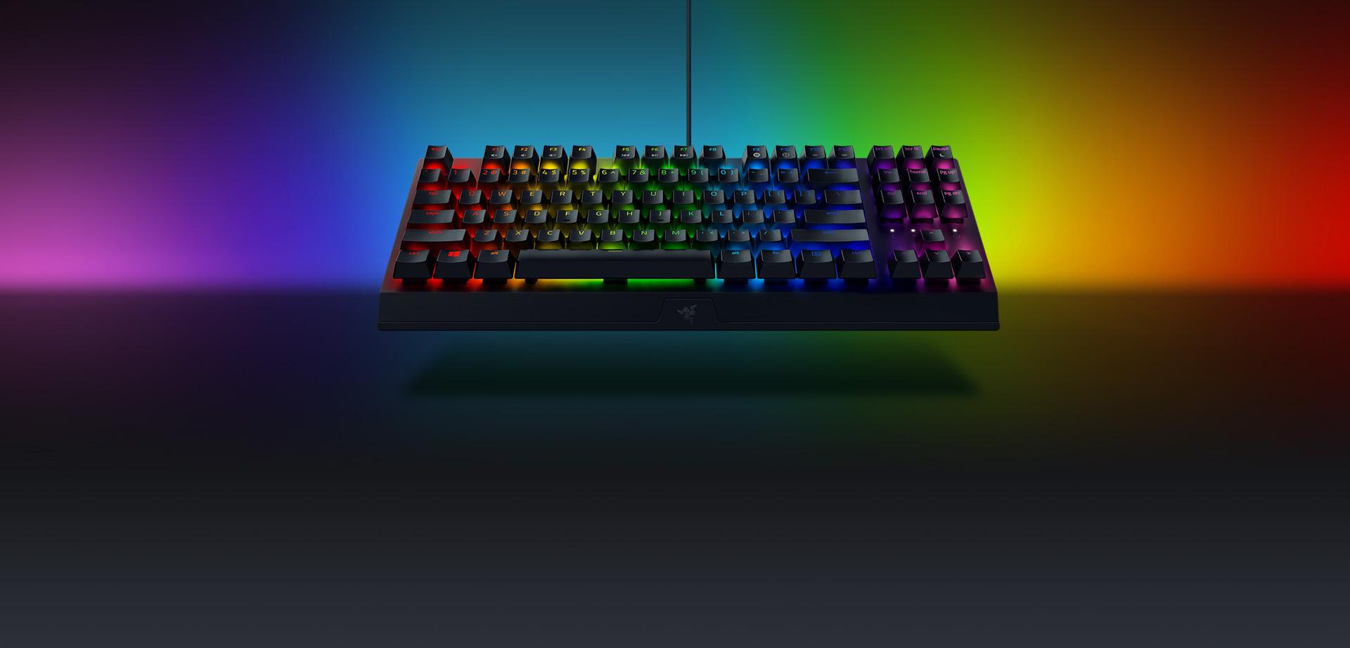 Bàn phím cơ Razer Blackwidows V3 Tenkeyless (USB/RGB/Green switch/Đen) (RZ03-03490100-R3M1) tích hợp công nghệ led RGB Chroma 16.8 triệu màu có thể tuỳ chỉnh dễ dàng