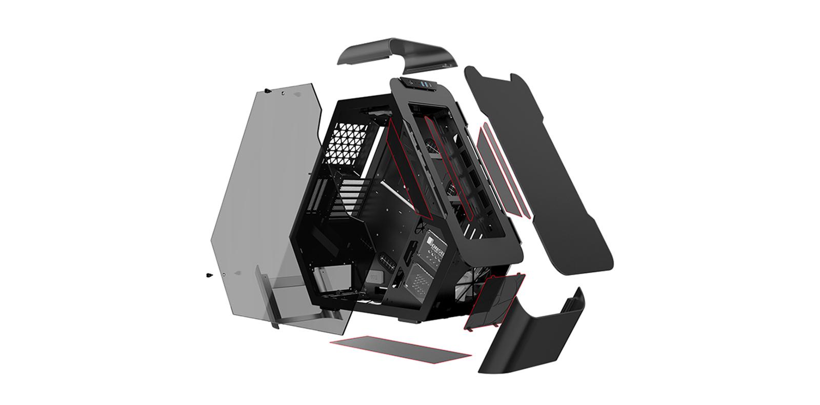 case Jonsbo TR03 - G Black (Mid Tower/Màu Đen) giới thiệu 3