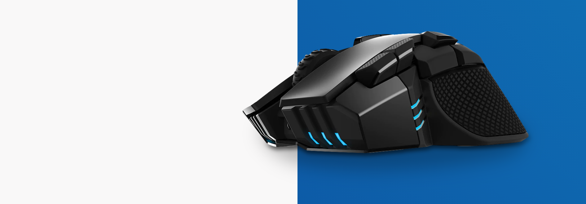 Chuột không dây Corsair Iron claw RGB (USB/RGB/Đen) (CH-9317011-AP) có thiết kế phù hợp cho người tay to