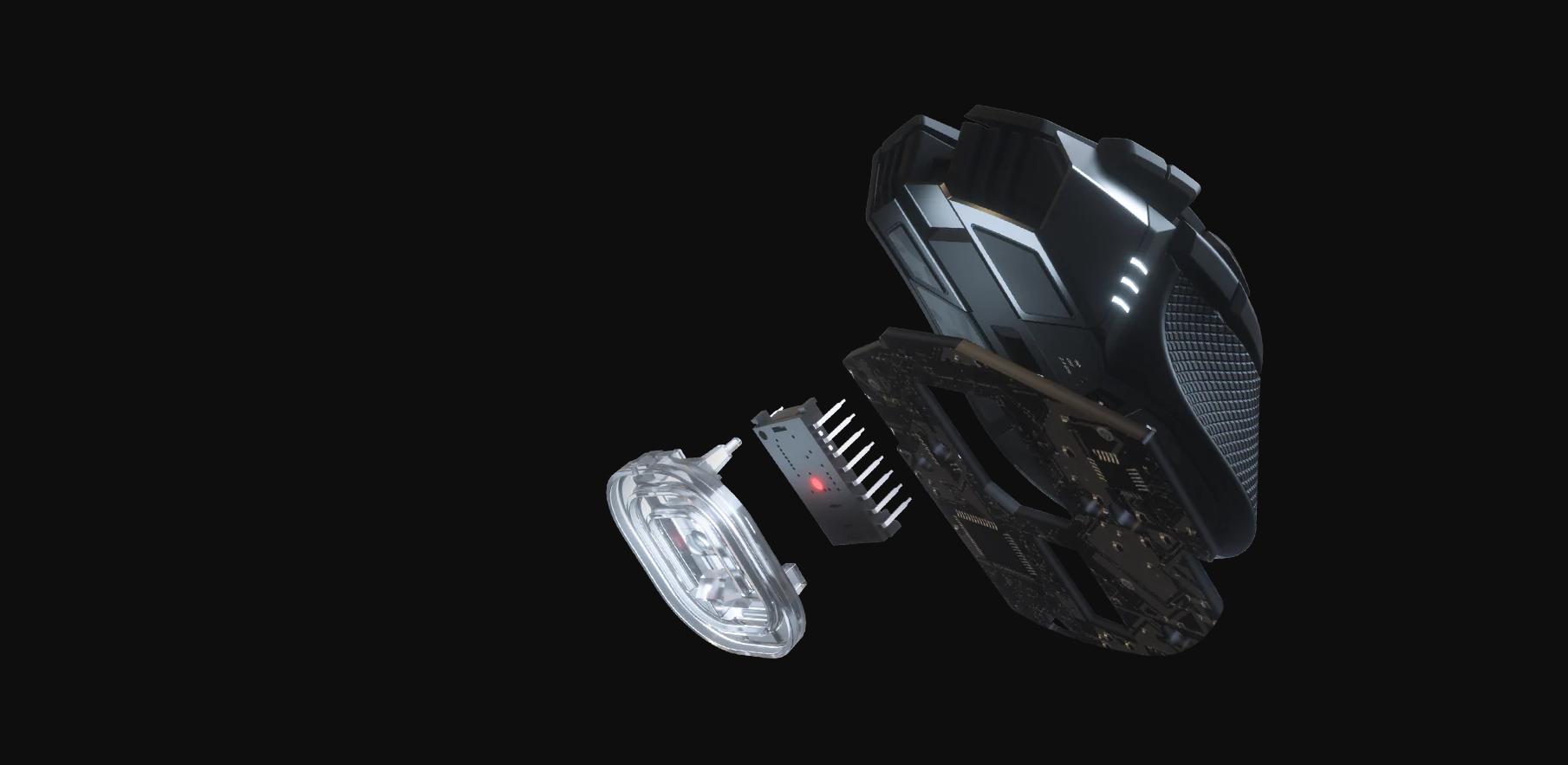 Chuột không dây Corsair Iron claw RGB (USB/RGB/Đen) (CH-9317011-AP) trang bị mắt cảm biến cao cấp Pixart PMW3391