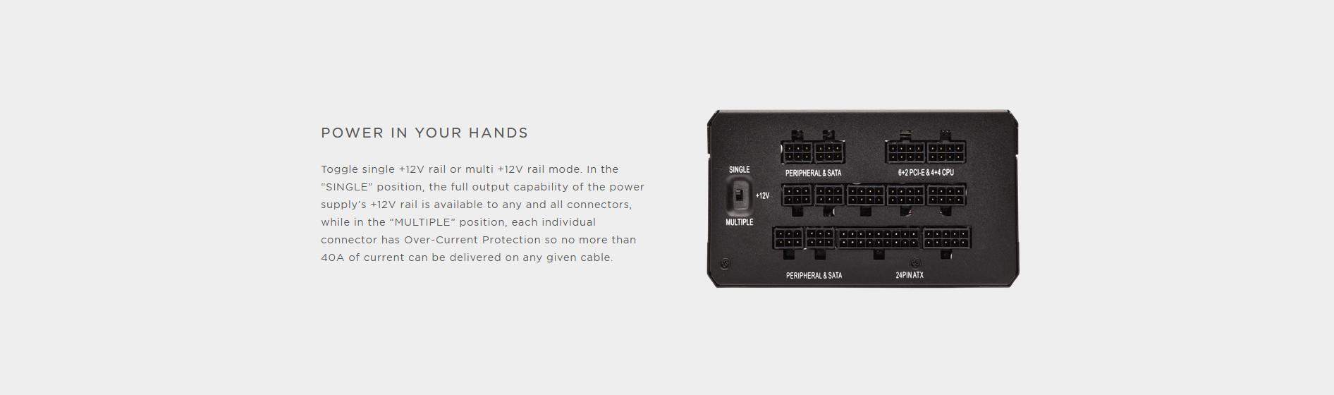 Nguồn Corsair HX850 850W (80 Platinum/Màu Đen/Full Modul) giới thiệu 4