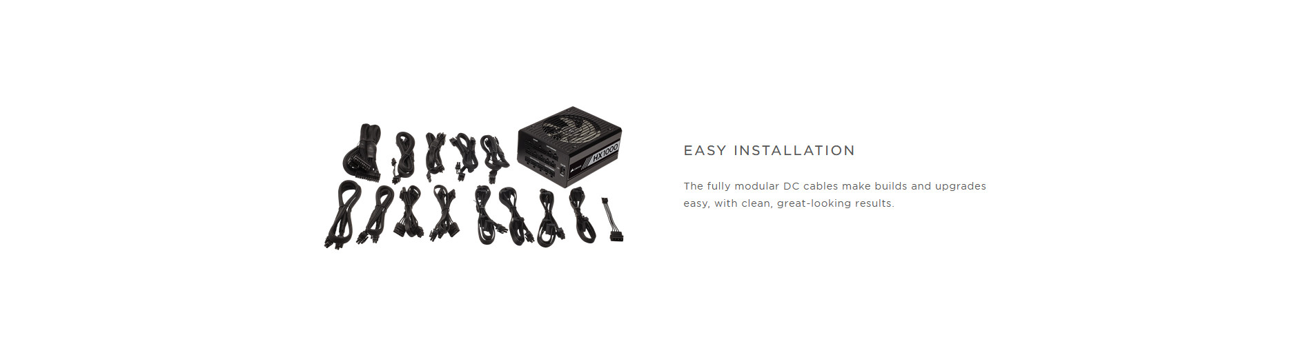 Nguồn Corsair HX1000 1000W (80 Platinum/Màu Đen/Full Modul) giới thiệu 5