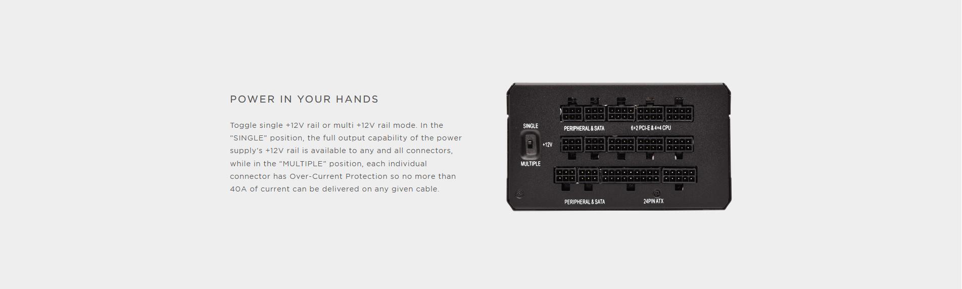 Nguồn Corsair HX1000 1000W (80 Platinum/Màu Đen/Full Modul) giới thiệu 4