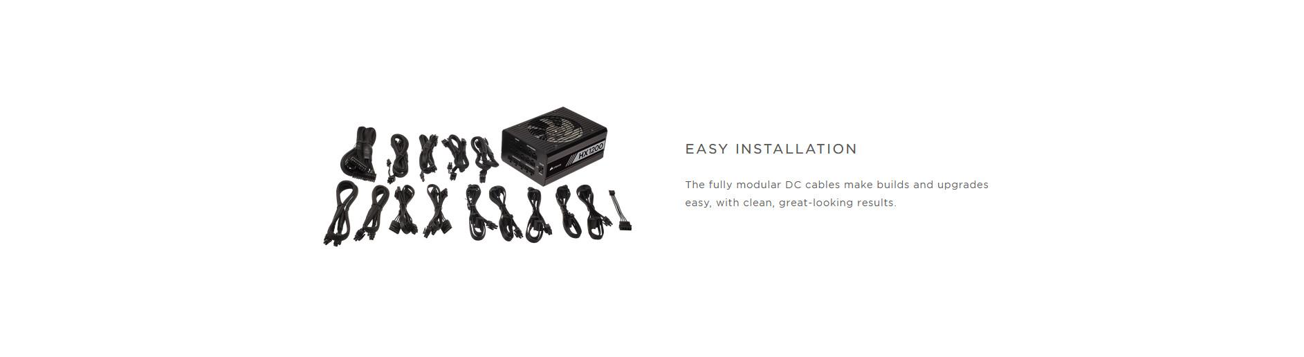 Nguồn Corsair HX1200 1200W (80 Platinum/Màu Đen/Full Modul) giới thiệu 5