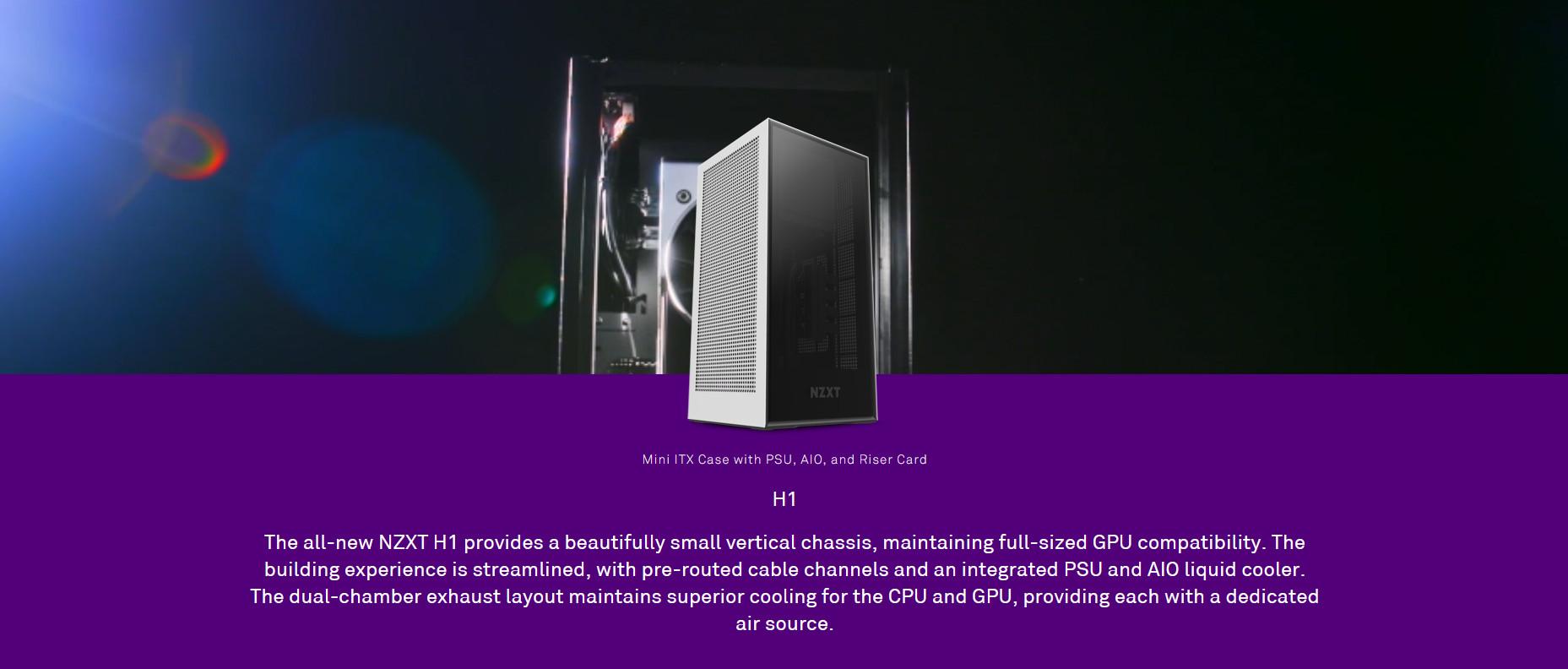 NZXT H1 (Mini Tower/Màu Đen) giới thiệu 4