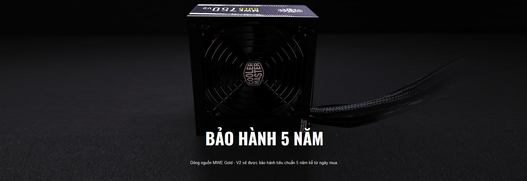 Nguồn máy tính Cooler Master MWE GOLD 750 - V2  750W ( 80 Plus Gold/Màu Đen/Full Modular) giới thiệu 7