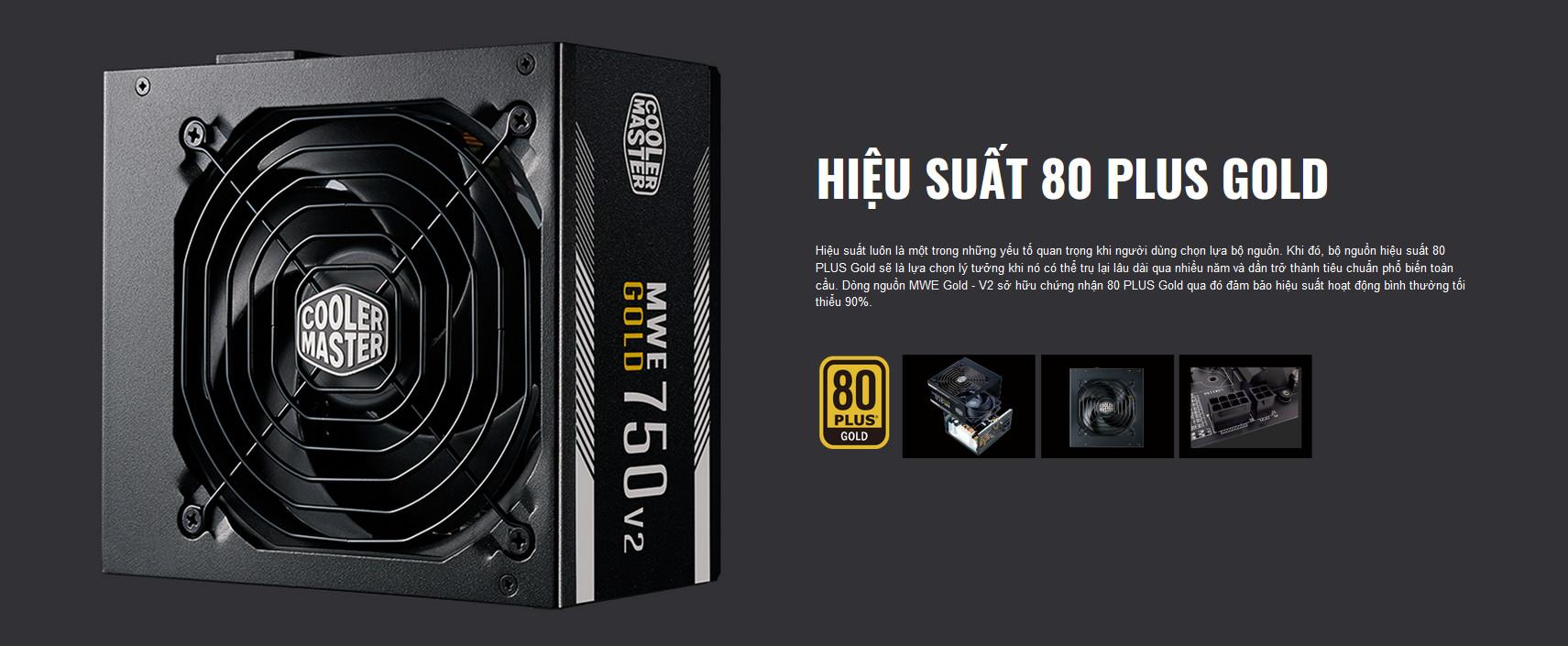Nguồn máy tính Cooler Master MWE GOLD 750 - V2 750W ( 80 Plus Gold/Màu Đen/Full Modular) giới thiệu 3