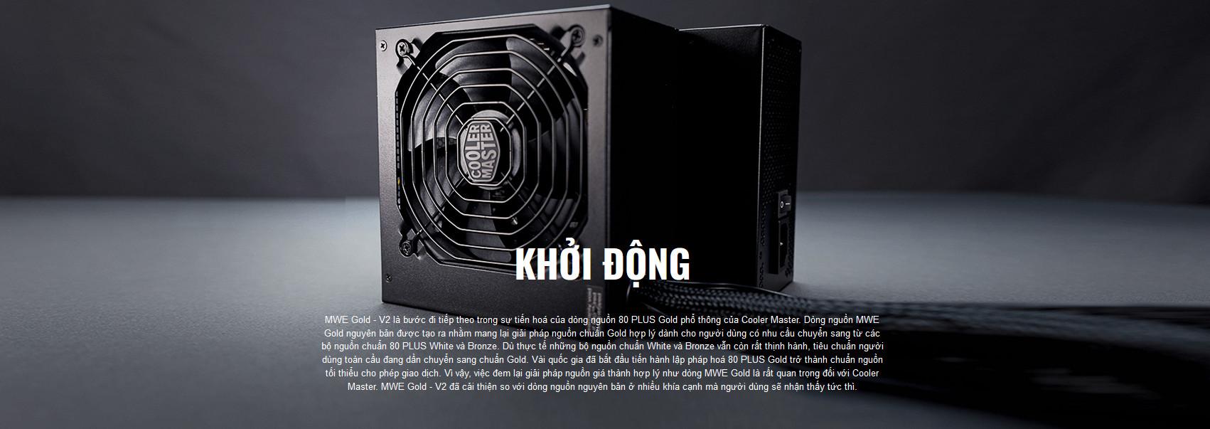 Nguồn máy tính Cooler Master MWE GOLD 750 - V2 750W ( 80 Plus Gold/Màu Đen/Full Modular) giới thiệu