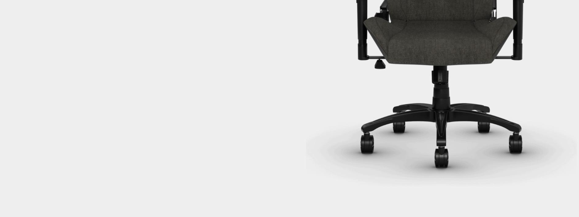 Ghế Game Corsair T3 RUSH Gray-White có thể di chuyển trên nhiều bề mặt khác nhau