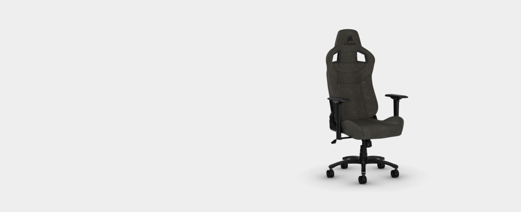 Ghế Game Corsair T3 RUSH Gray-Charcoal có cấu tạo chất liệu vải thoáng khí